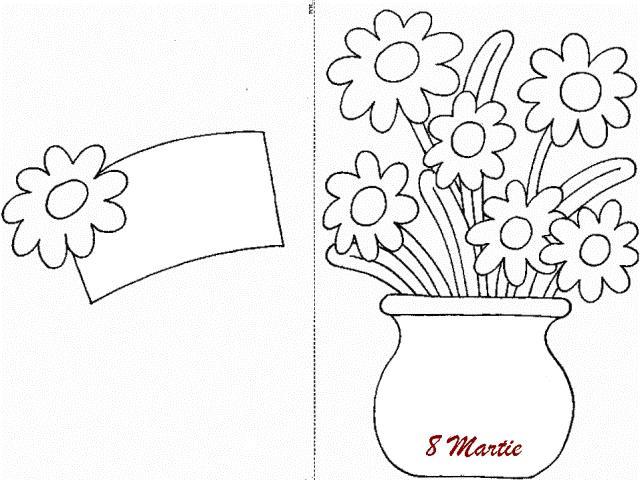 8 Martie Ziua Mamei Planse De Colorat