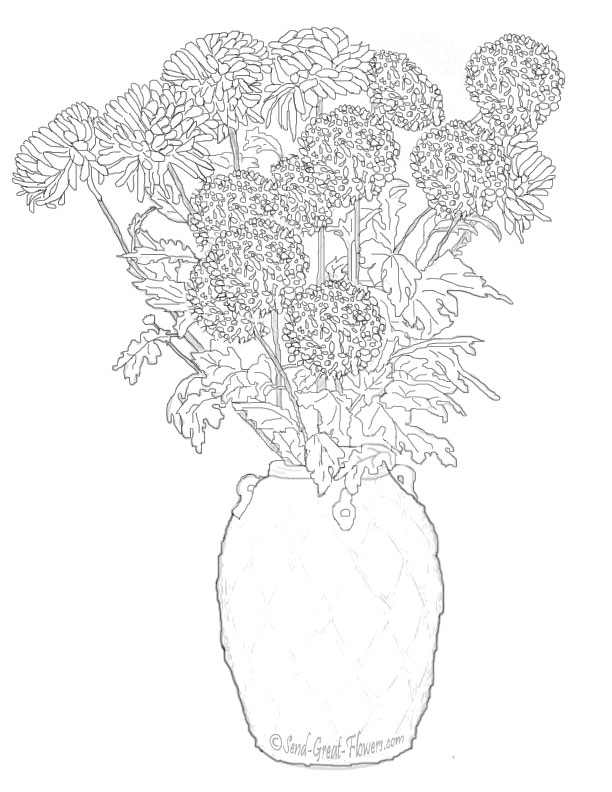 Flori De Toamna Planse De Colorat