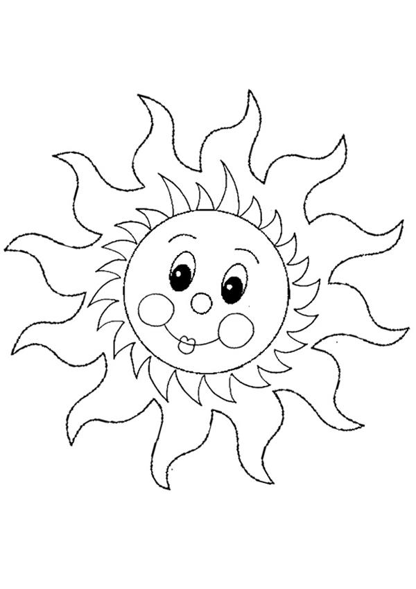 Soare Planse De Colorat