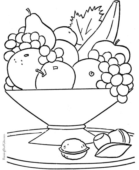 Fructe Planse De Colorat