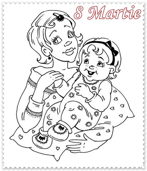 Раскраска к дню матери
