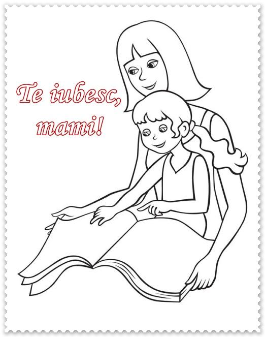 Ребенок с матерью раскраска