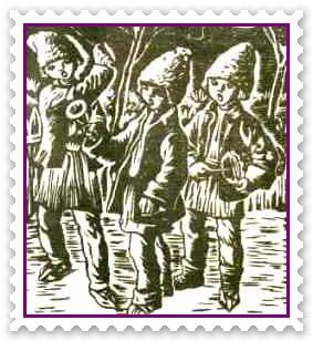 Plugusorul de Anul Nou Plugusor cu patru boi