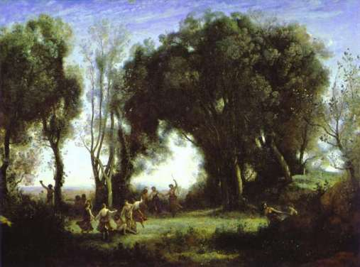 A Morning Dance of the Nymphs Camille Corot