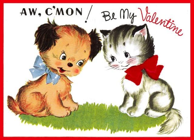 Felicitari originale de Sfantul Valentin cu catelusi