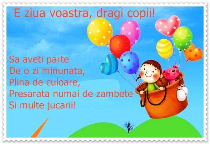 1 iunie ziua copilului felicitari si mesaje in versuri