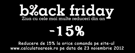 Black Friday la calculatoare second hand