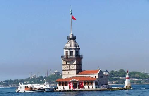 Castelul Fecioarei sau Turnul lui Leandru Kiz Kulesi Istanbul