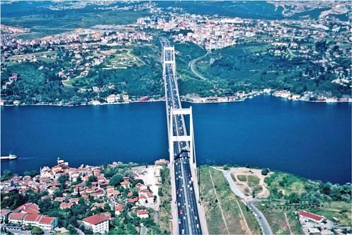 Podul Bosfor din Istanbul Turcia